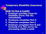 temporary disability insurance7