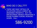 who do i call