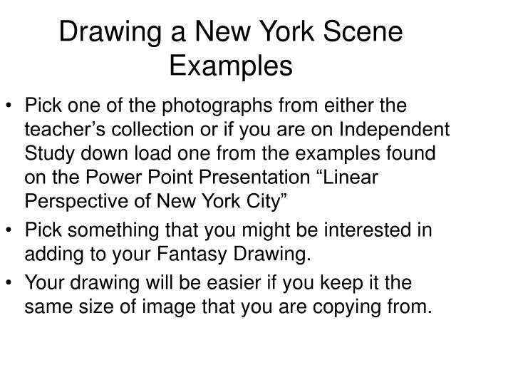 Drawing a New York Scene