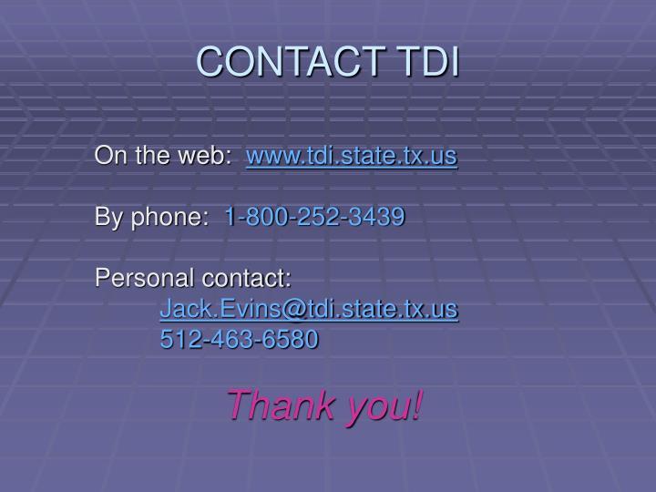 CONTACT TDI
