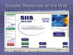 disaster resources on the web5