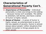 characteristics of generational poverty con t1