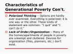 characteristics of generational poverty con t5