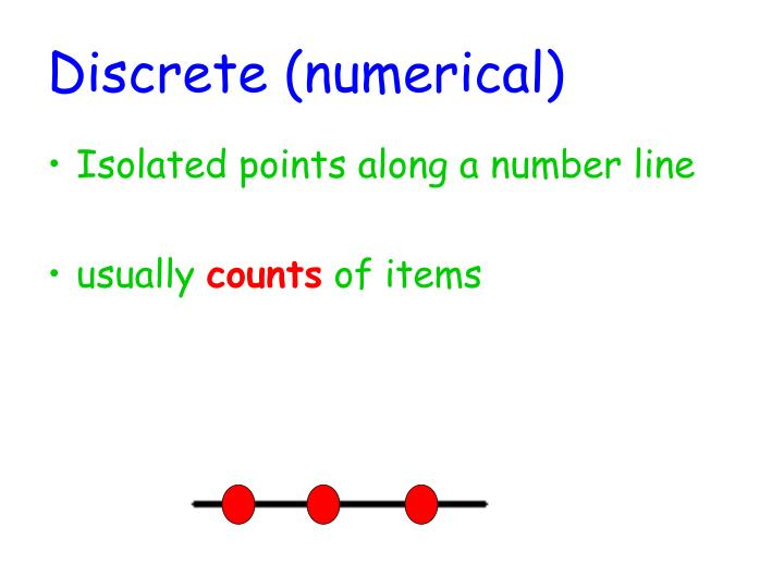 Discrete (numerical)