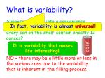 what is variability
