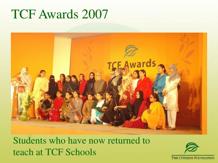 TCF Awards 2007