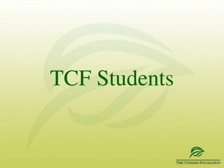 TCF Students