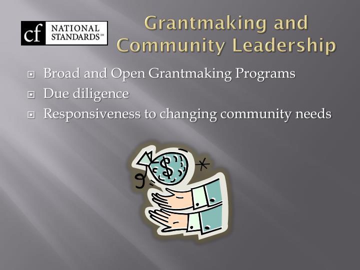 Grantmaking and Community Leadership