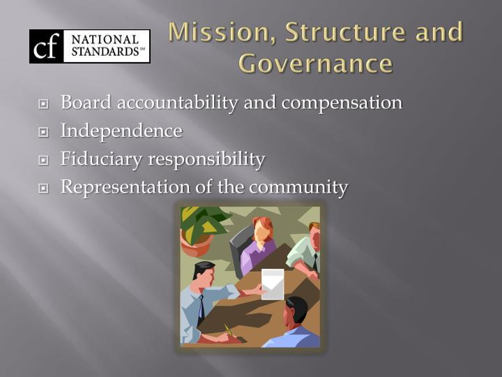 Mission, Structure and Governance