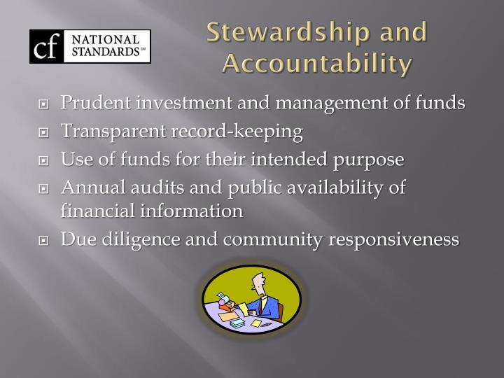 Stewardship and Accountability