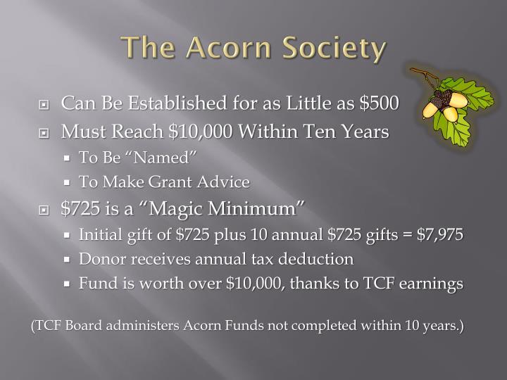 The Acorn Society