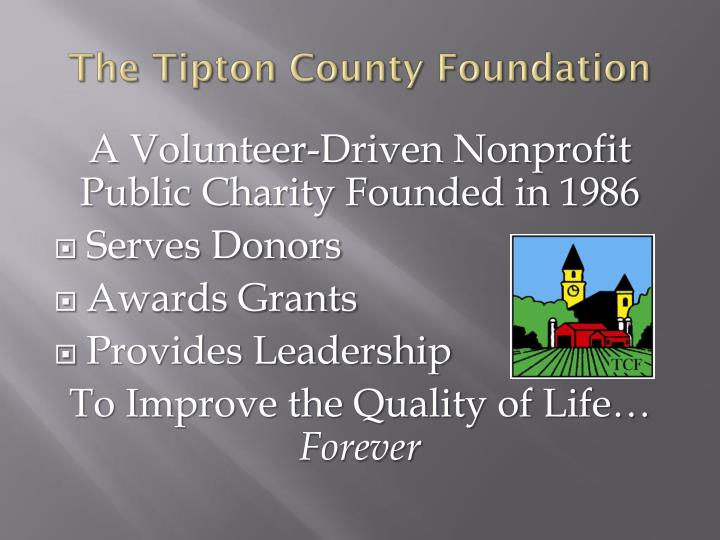 The Tipton County Foundation