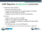 cars reporter collections conversion