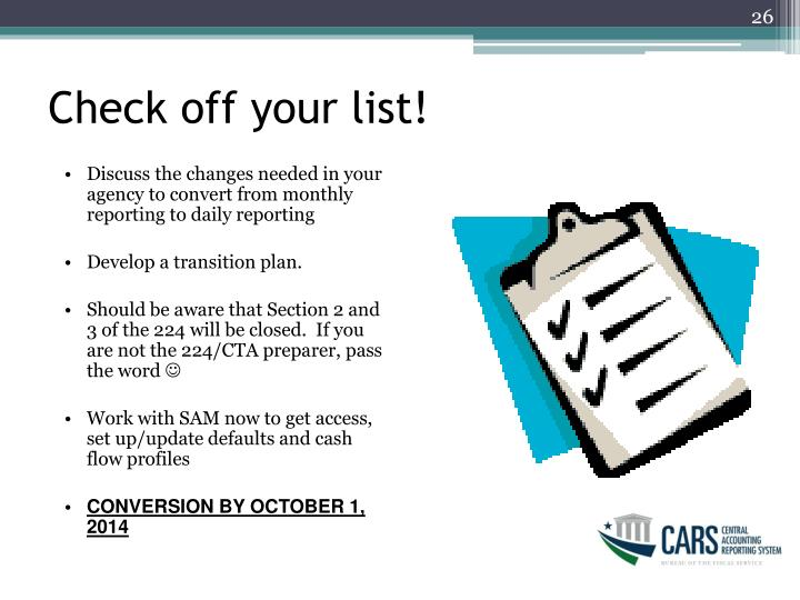 Check off your list!