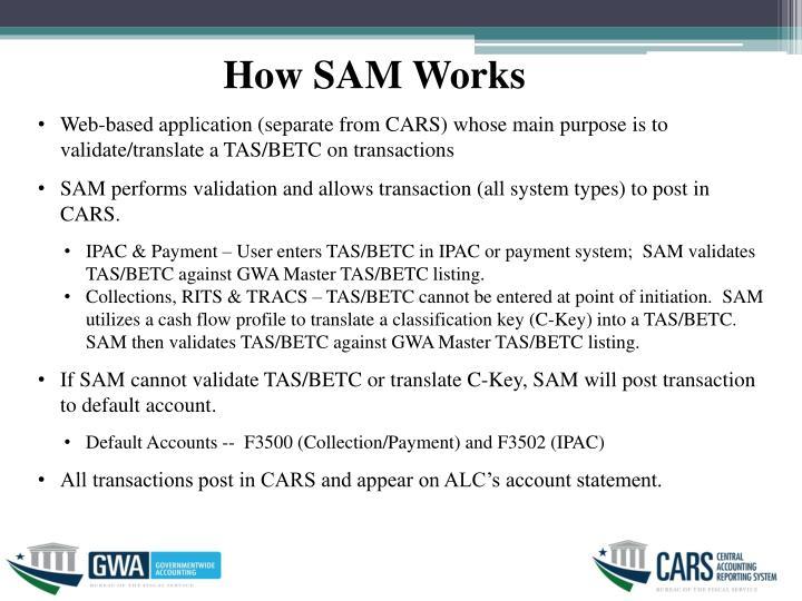 How SAM Works
