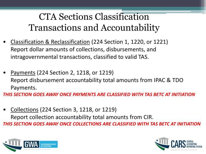 CTA Sections Classification