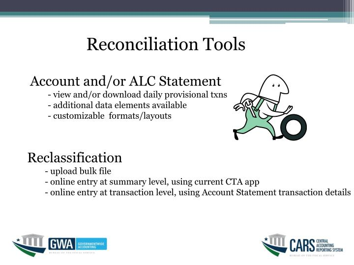 Reconciliation Tools