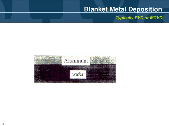 Blanket Metal Deposition