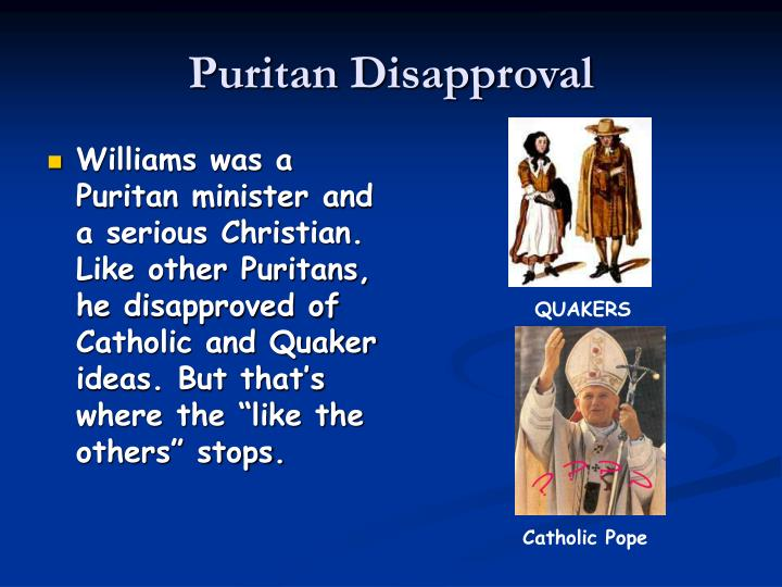 Puritan disapproval