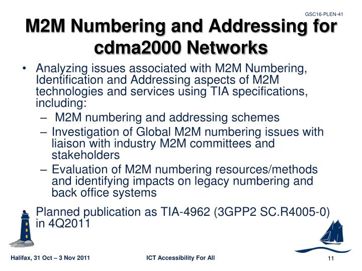 M2M Numbering and Addressing for cdma2000 Networks