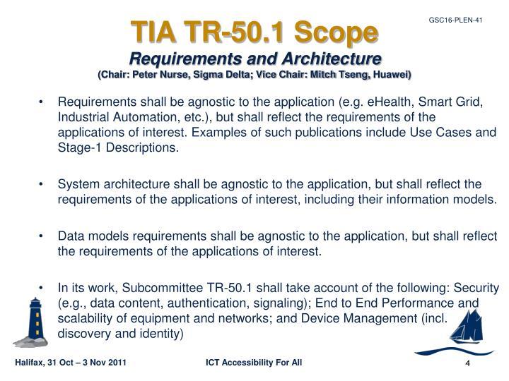 TIA TR-50.1 Scope