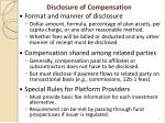 disclosure of compensation