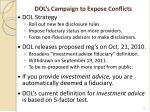 dol s campaign to expose conflicts