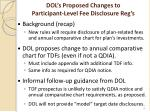 dol s proposed changes to participant level fee disclosure reg s