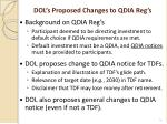 dol s proposed changes to qdia reg s