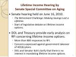 lifetime income hearing by senate special committee on aging