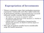 expropriation of investments