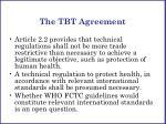 the tbt agreement