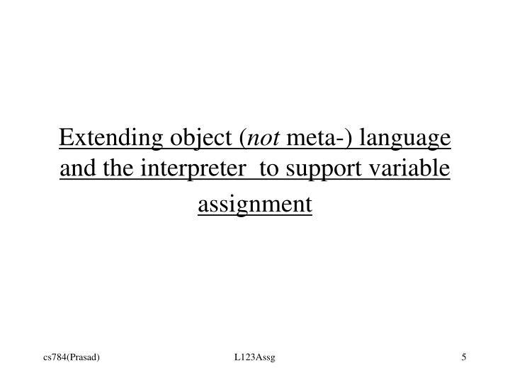 Extending object (