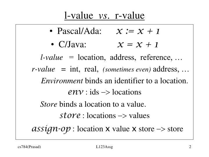 l-value