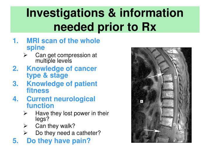 Investigations & information needed prior to Rx