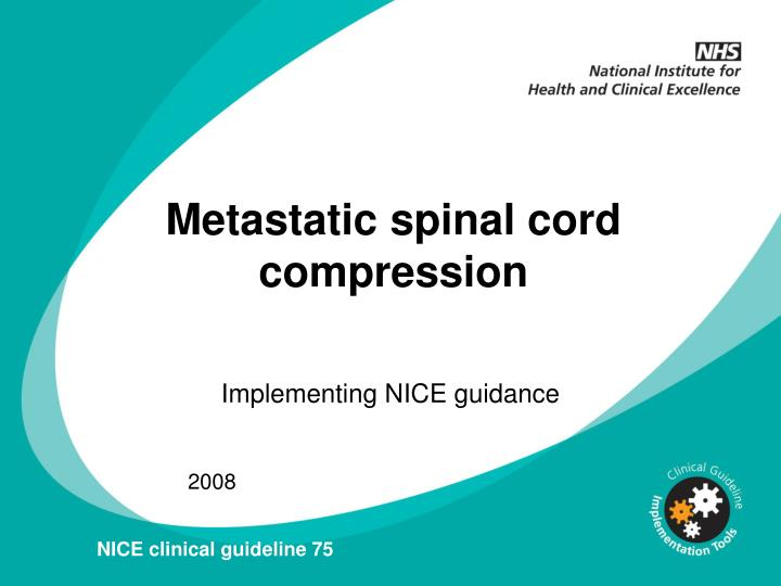 Metastatic spinal cord