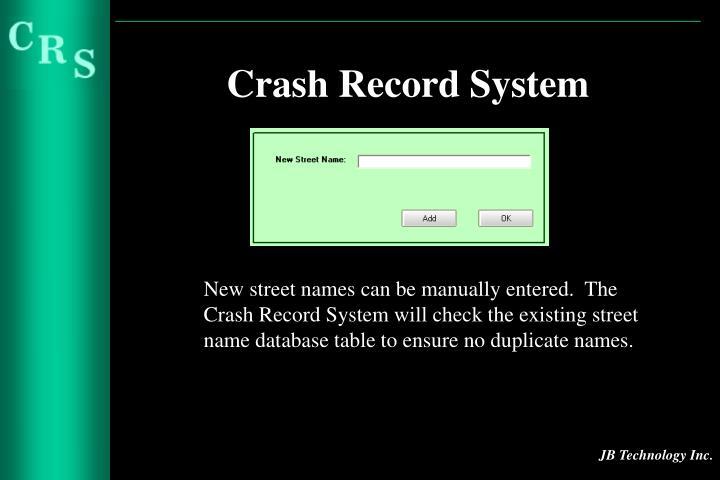 Crash Record System