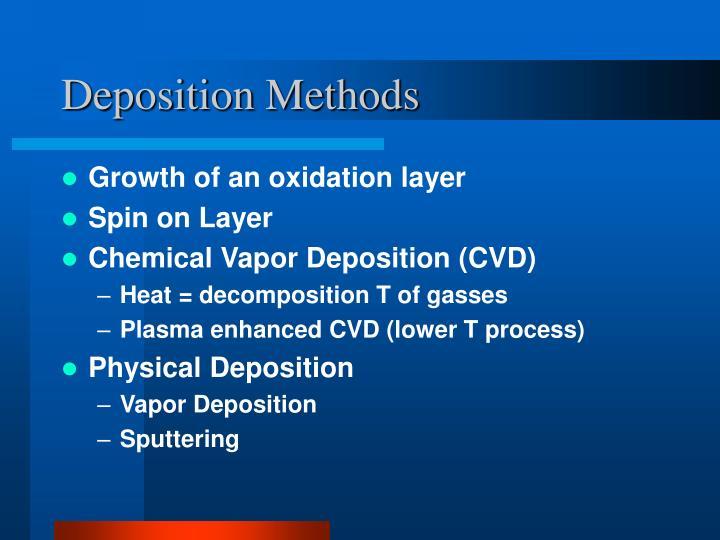 Deposition Methods