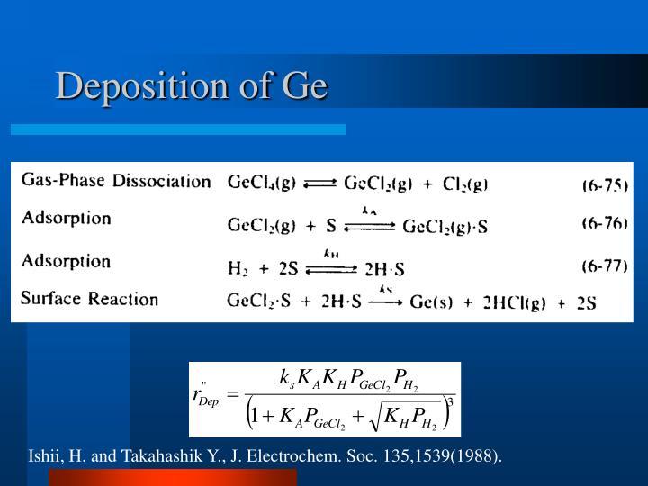 Deposition of Ge