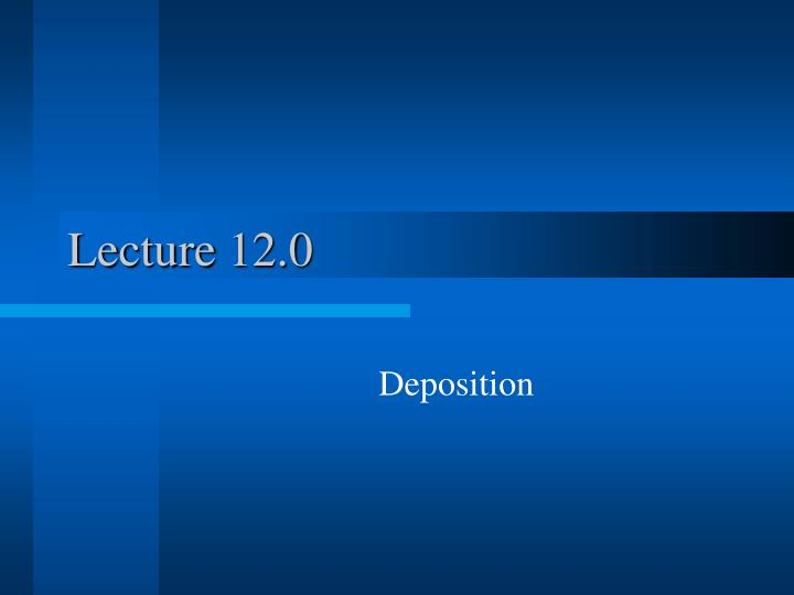 Lecture 12.0