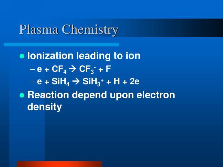 Plasma Chemistry