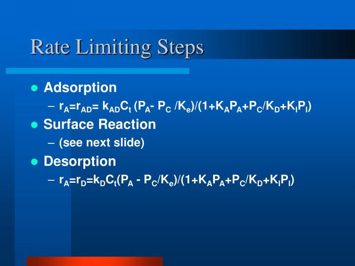 Rate Limiting Steps