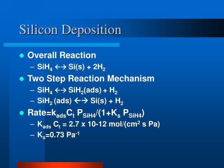 Silicon Deposition