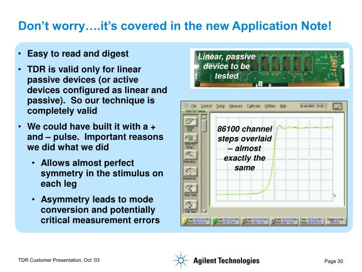 Don't worry….it's covered in the new Application Note!