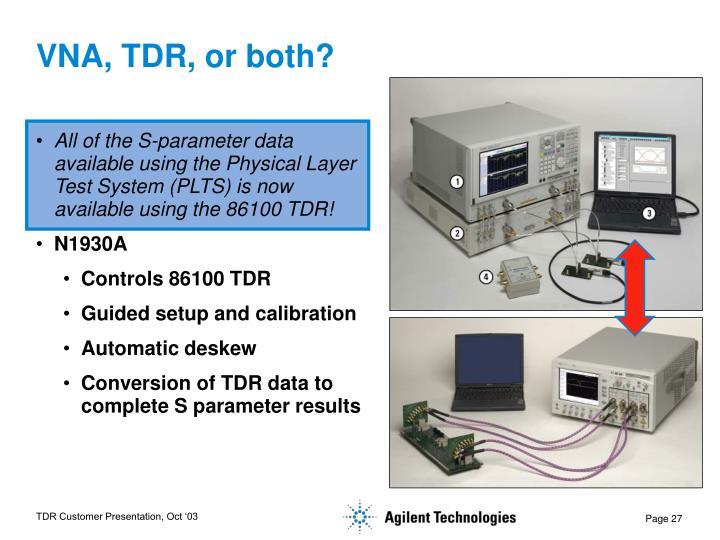 VNA, TDR, or both?