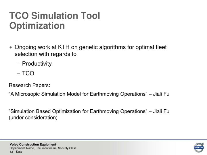 TCO Simulation Tool
