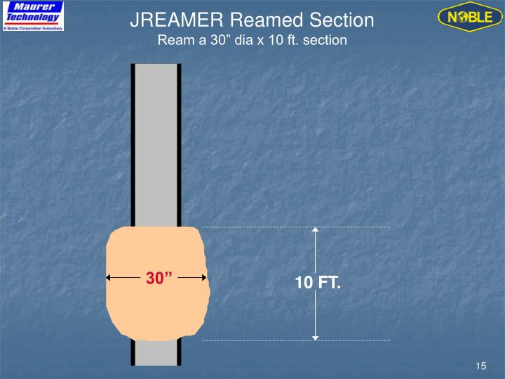 JREAMER Reamed Section