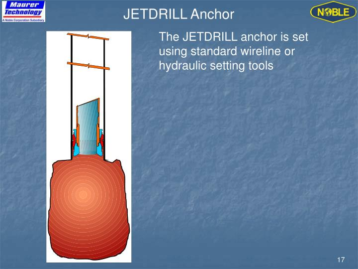 JETDRILL Anchor
