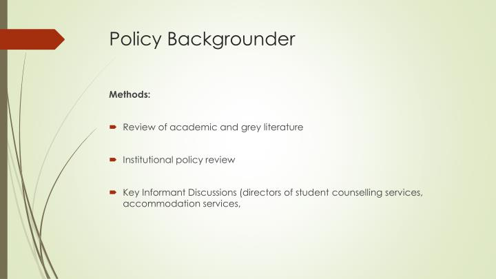 Policy Backgrounder