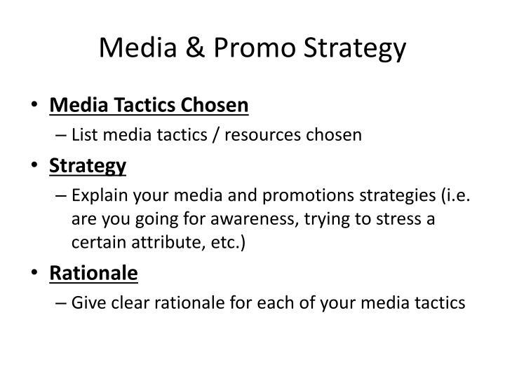 Media & Promo Strategy